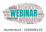 webinar or web conference word... | Shutterstock .eps vector #1020046114