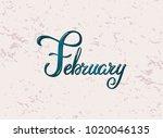 handdrawn typography lettering... | Shutterstock .eps vector #1020046135