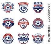 set of soccer  football emblems.... | Shutterstock .eps vector #1020059014