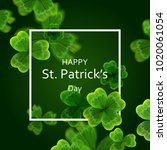 card on st. patrick's day. 3d... | Shutterstock .eps vector #1020061054