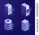 set of server rack and database ...   Shutterstock .eps vector #1020063019
