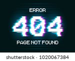 error 404 page not found. error ... | Shutterstock .eps vector #1020067384