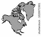 north america map outline... | Shutterstock .eps vector #1020072301