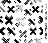 vintage vector seamless pattern ... | Shutterstock .eps vector #1020074611