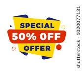 sale bunner template. vector... | Shutterstock .eps vector #1020077131