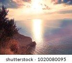 blue sea water texture coast in ... | Shutterstock . vector #1020080095