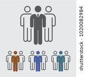 team  leadership vector icon | Shutterstock .eps vector #1020082984