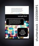 presentation of creative flyer... | Shutterstock .eps vector #102008491