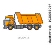 color flat vector icon... | Shutterstock .eps vector #1020085069