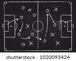 soccer game tactical scheme... | Shutterstock .eps vector #1020093424