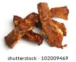 Marinated pork ribs - stock photo
