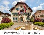 st.gilgen  austria   may 23 ... | Shutterstock . vector #1020101677