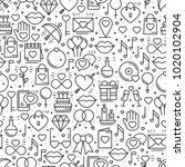 seamless pattern with love... | Shutterstock .eps vector #1020102904