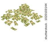 set of money. packing in... | Shutterstock .eps vector #1020103144
