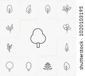 trees line icon set | Shutterstock .eps vector #1020103195