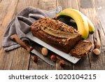 homemade banana bread | Shutterstock . vector #1020104215