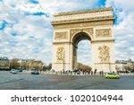 paris  france. feb 02  2018 ... | Shutterstock . vector #1020104944
