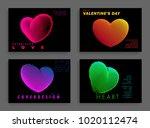 image of hearts.minimal design. ... | Shutterstock .eps vector #1020112474