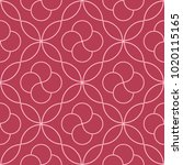 geometric ornament. red and... | Shutterstock .eps vector #1020115165