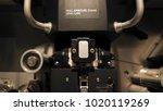 telecine machine semi analog...   Shutterstock . vector #1020119269