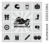 moto parts motorcycle... | Shutterstock .eps vector #1020121861