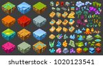 isometric game landscape icons... | Shutterstock .eps vector #1020123541