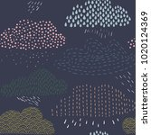 seamless colored clouds pattern ... | Shutterstock .eps vector #1020124369