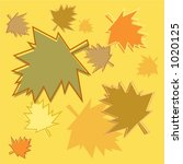 fall leaves background tile | Shutterstock . vector #1020125