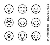icons emoticons. vector smile ... | Shutterstock .eps vector #1020127681