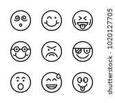 icons emoticons. vector... | Shutterstock .eps vector #1020127705