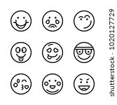 icons emoticons. vector happy ... | Shutterstock .eps vector #1020127729