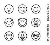 icons emoticons. vector smile ... | Shutterstock .eps vector #1020127879