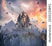 gods of new egypt   3d... | Shutterstock . vector #1020133891