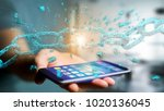 view of a weak link of a broken ... | Shutterstock . vector #1020136045