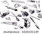 vector hand drawn illustration... | Shutterstock .eps vector #1020141139