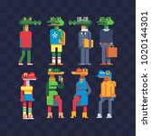 reptiles in clothes characters... | Shutterstock .eps vector #1020144301