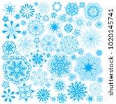 set of ornamental vector... | Shutterstock .eps vector #1020145741