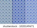 blue geometric ornaments. set... | Shutterstock .eps vector #1020149671