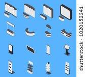 isometric set of various... | Shutterstock .eps vector #1020152341