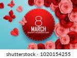 international happy women's day ... | Shutterstock .eps vector #1020154255