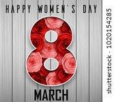 happy international women's day ... | Shutterstock .eps vector #1020154285