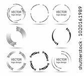 vector frames. circles for... | Shutterstock .eps vector #1020161989