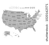 superhigh detail of us map... | Shutterstock .eps vector #1020162571