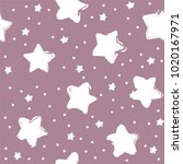 seamless colorful star pattern... | Shutterstock .eps vector #1020167971