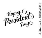 lettering happy presidents day | Shutterstock .eps vector #1020169381