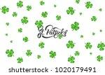 st. patrick's day. clover... | Shutterstock .eps vector #1020179491