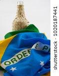 cachaca bottle brazilian liquor ... | Shutterstock . vector #1020187441