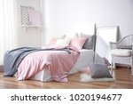 room interior with comfortable... | Shutterstock . vector #1020194677