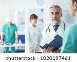 professional doctor and medical ... | Shutterstock . vector #1020197461