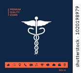 caduceus medical symbol | Shutterstock .eps vector #1020198979